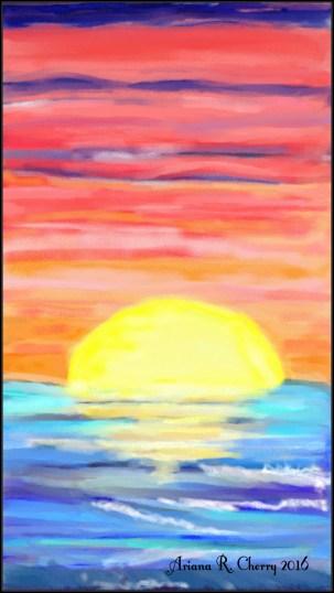SunsetPainting2016withSignature