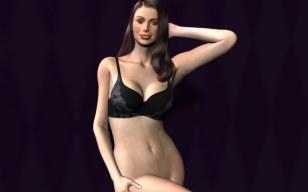 Modeling Bra without panties original version