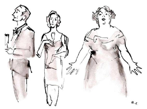 Dessins du spectacle parus dans le blog de Jazz Magazine