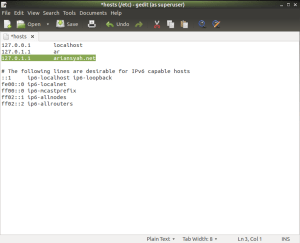 cara membuat virtual host di linux
