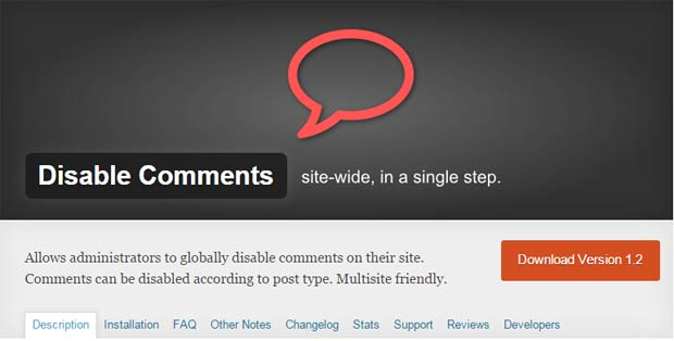 Plugin-Disable-Comments--Desabilitar-comentarios-de-wordpress