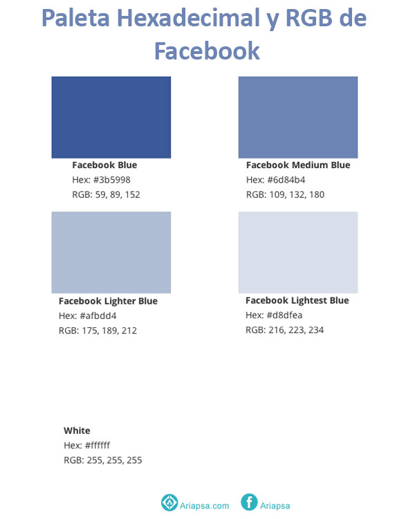 Colores de facebook