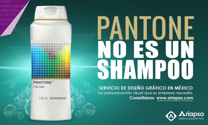 Pantone-no-es-un-shampoo-ariapsa-diseño-grafico