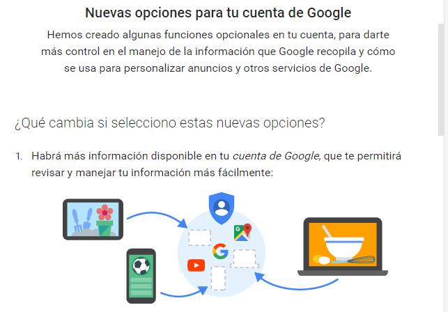 cambio en google
