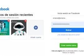 Facebook cambia el diseño de su inicio de sesión.