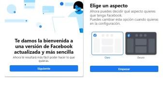 Nuevo diseño de Facebook, mas limpio
