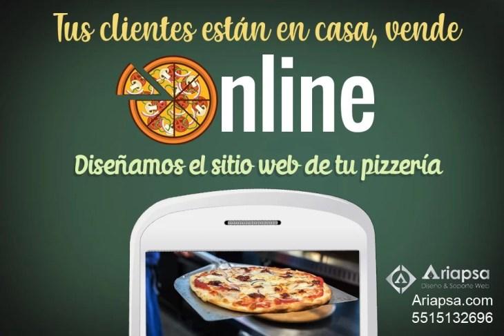 Diseño de páginas web para mi pizzería Ariapsa México