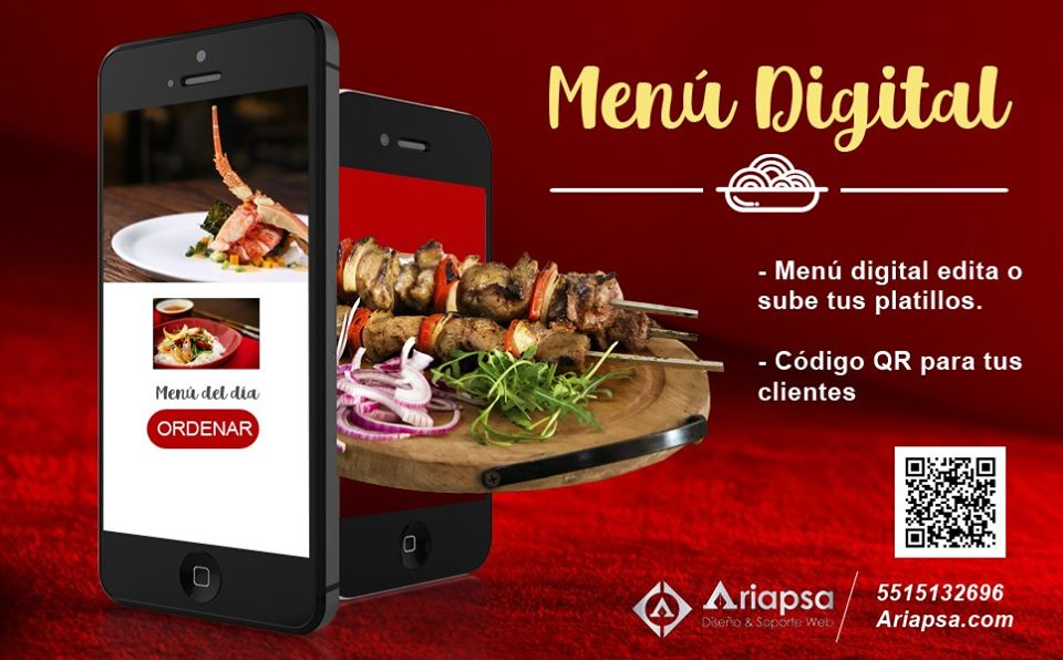 Menu digital ariapsa México dw1