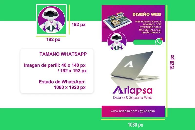 Tamaño para whatsapp Ariapsa México DESTACADO