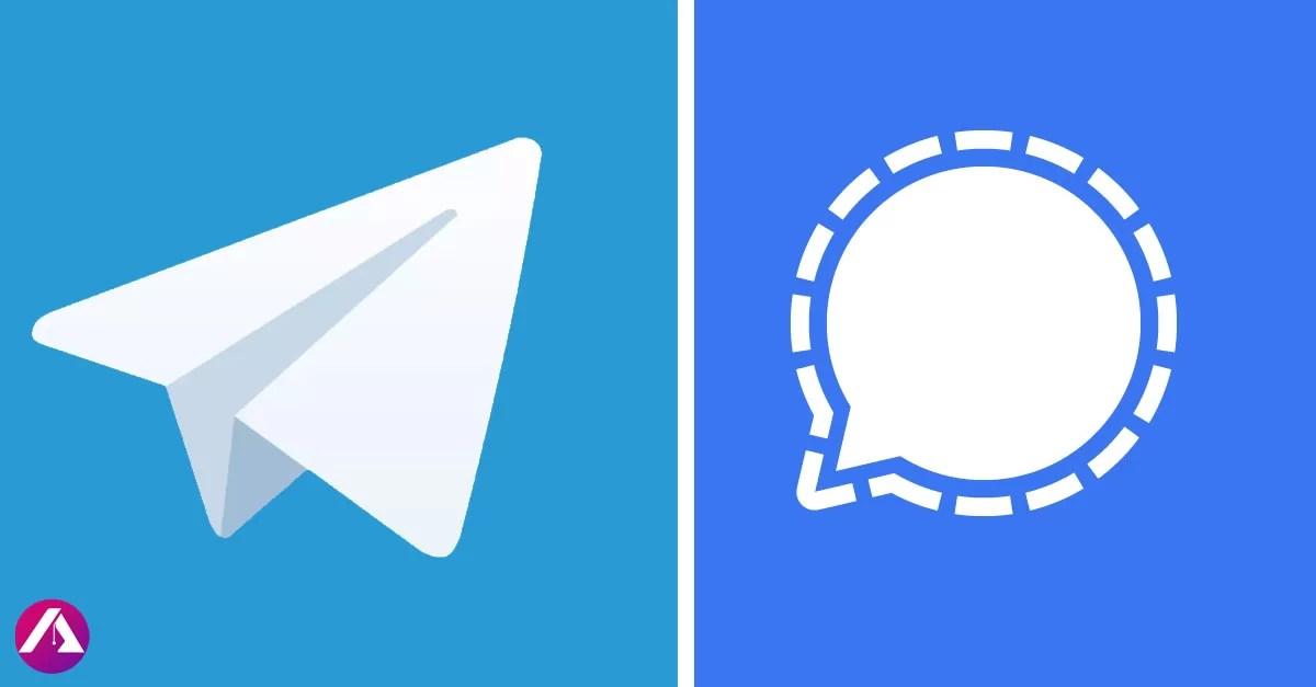 Aumenta descargas de telegram y Signal
