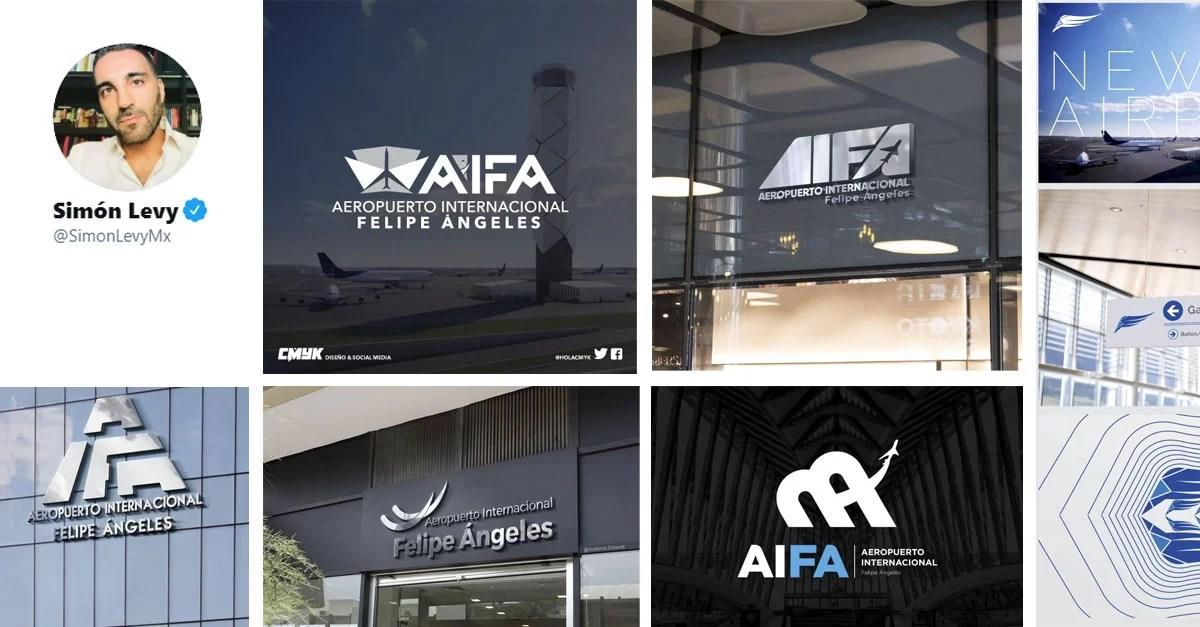 Empresario Simón Levy rediseño de logo de Aeropuerto Felipe Ángeles
