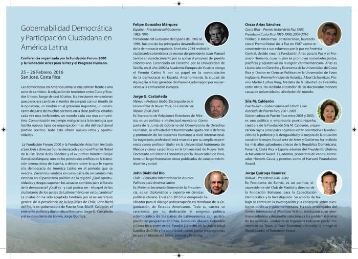 Folleto, Conferencia sobre democracia 2