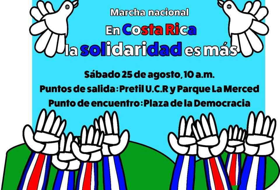 Fundación Arias marchará por la paz y la solidaridad
