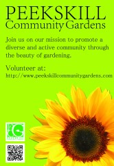 Old design concept for the Peekskill Community Gardens posters. (Version 1)