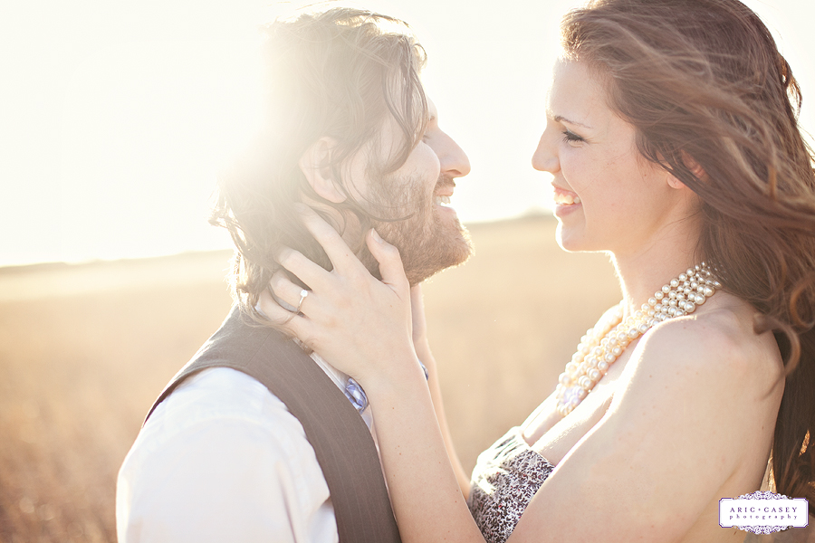 happy and romantic engagement pictures of caitlin and ryan thurman by wedding photographers aric and casey photography