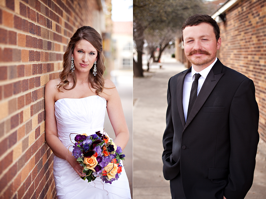 Beautiful, simple bride and groom portraits on wedding day