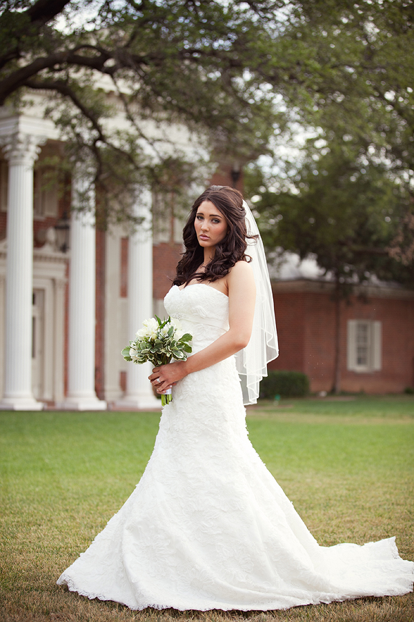 Brides Amarillo Bridal gown bridal portrait by Aric and Casey Photography