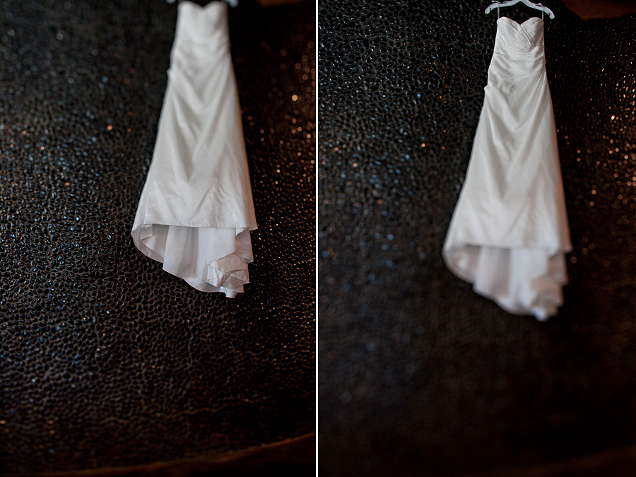 David's Bridal Wedding Dress in McPherson Wine Cellars Lubbock Texas by Aric and Casey Photography