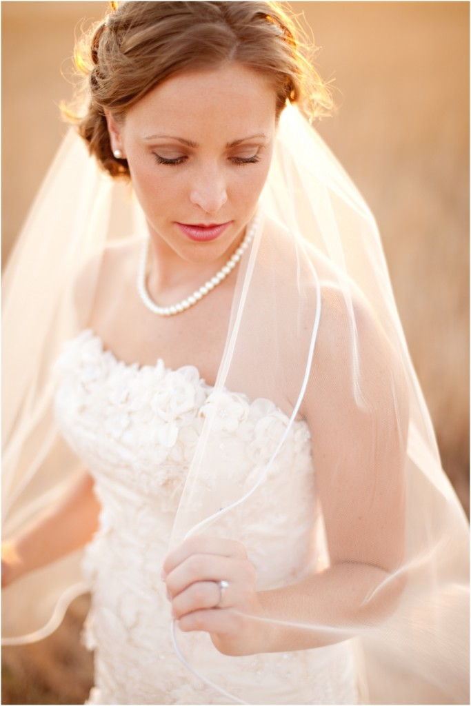 bride with pearls and veil