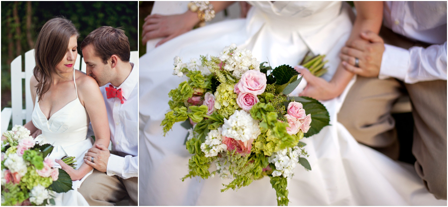 Wedding bouquet by college flowers florist