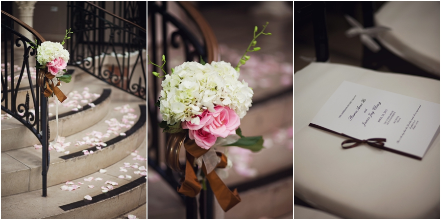 Pink and Champagne Wedding details