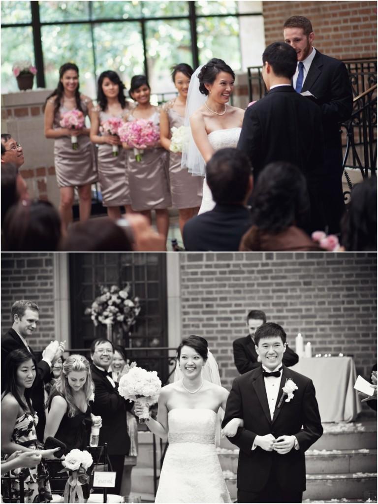Wedding at Rice University in Houston Texas