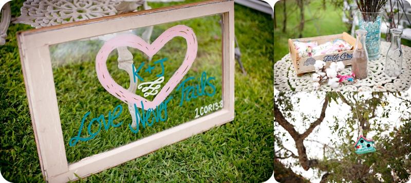 DIY wedding details wedding sign on window