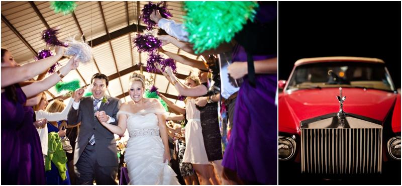 pom pom wedding reception exit in lubbock texas