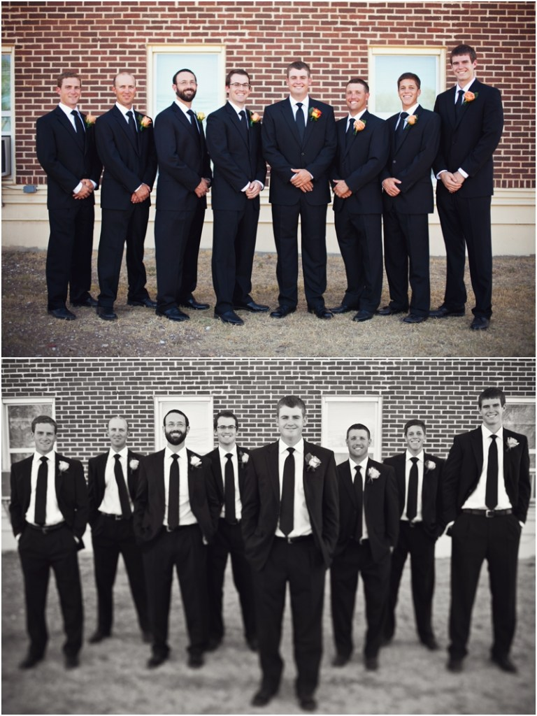 groomsmen shot in black and white