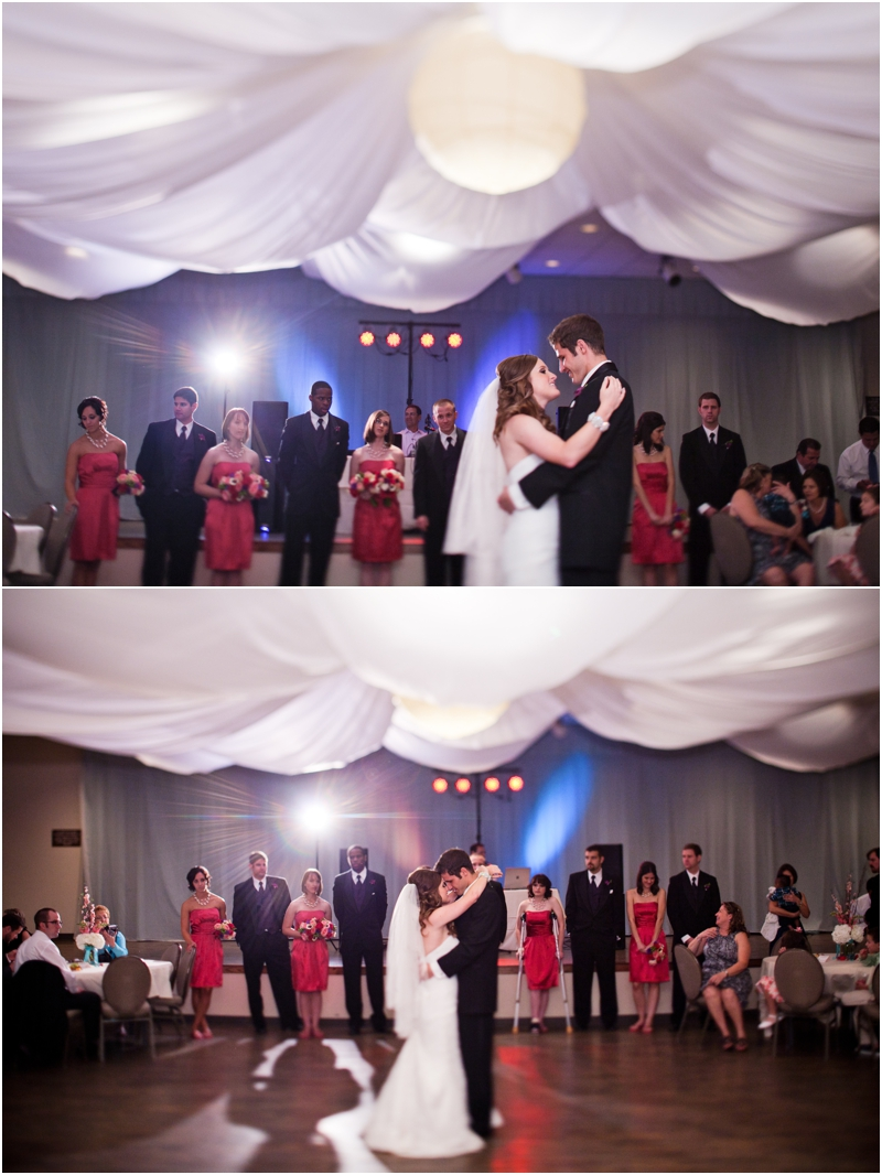 Legacy event center reception first dance