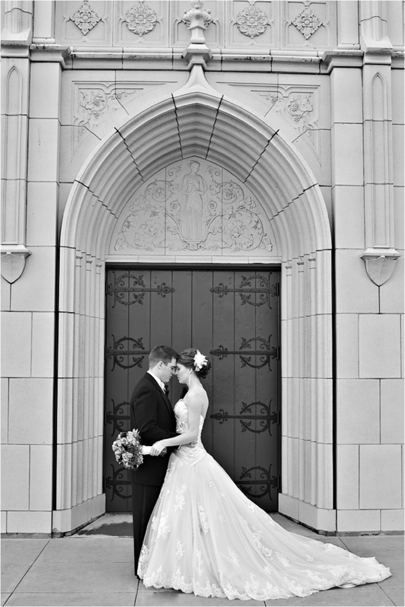 black and white FUMC wedding