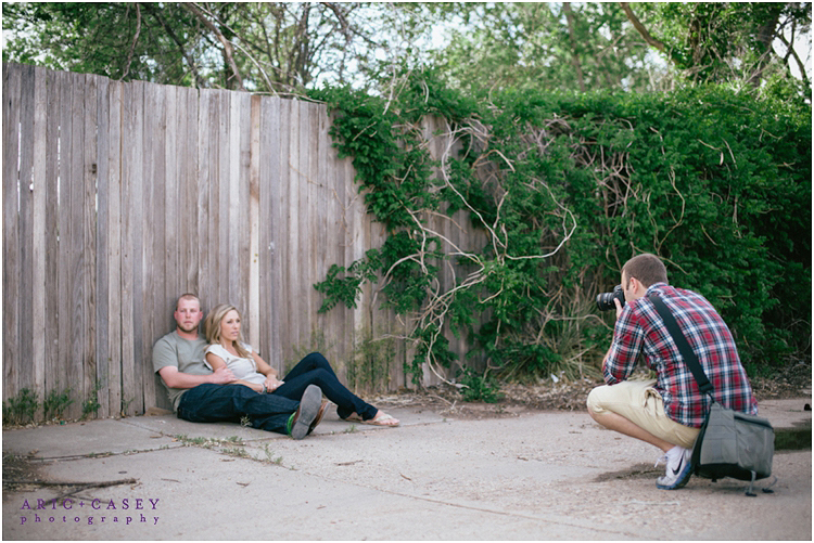behind the scenes with aric and casey photography
