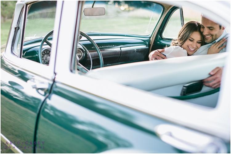 classic car engagement