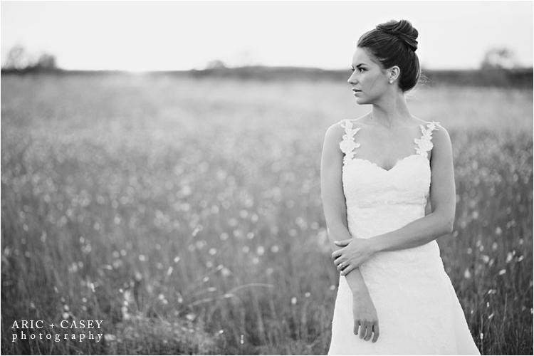 Gorgeous bride in a field lubbock texas