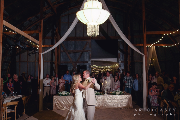 Chandelier wedding barn reception