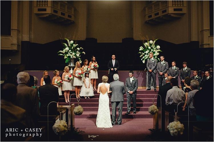 Lubbock wedding photographer First Baptist Church