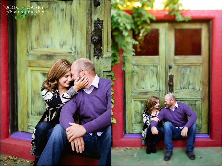Colorful Lubbock Engagement Photography