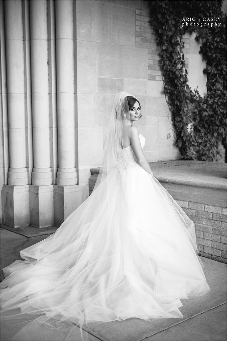 beautiful black and white bridal portraits in lubbock texas