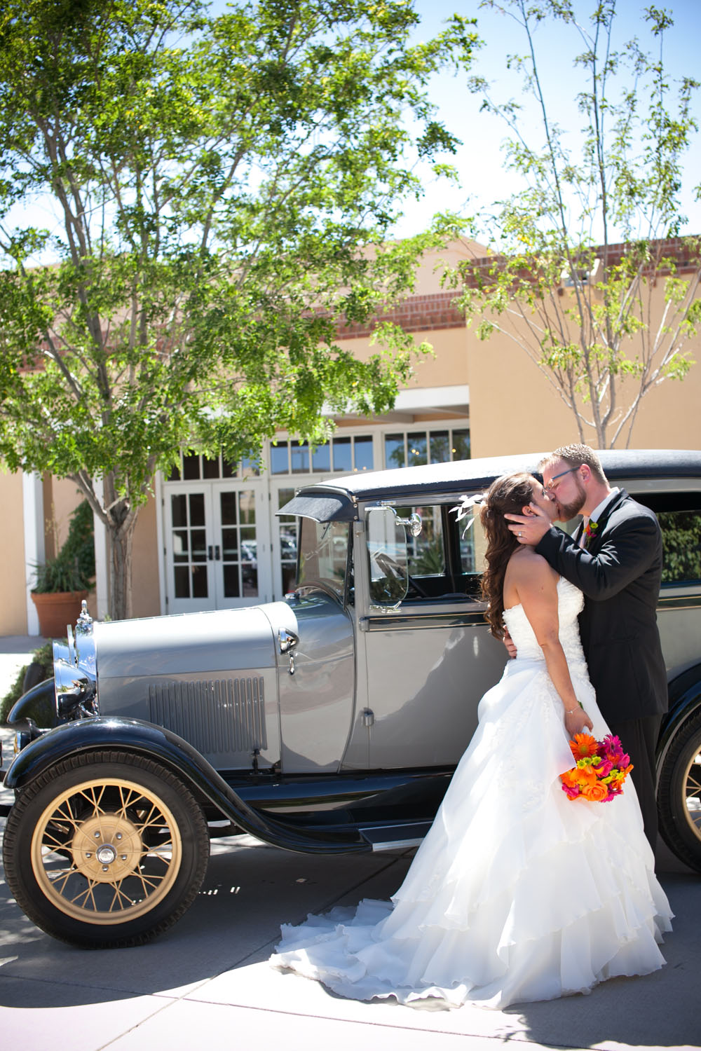 wedding exit car