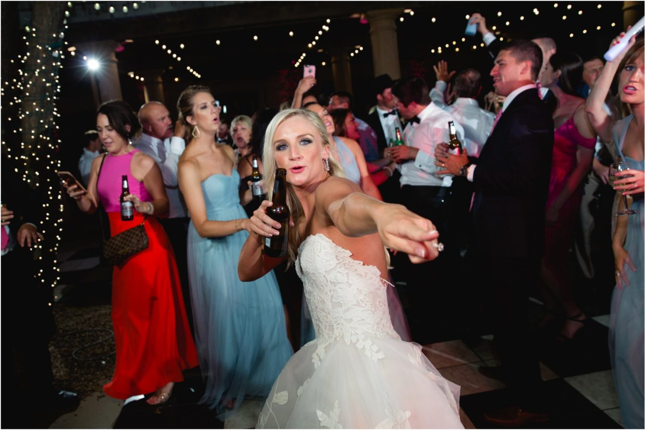bride dancing at reception