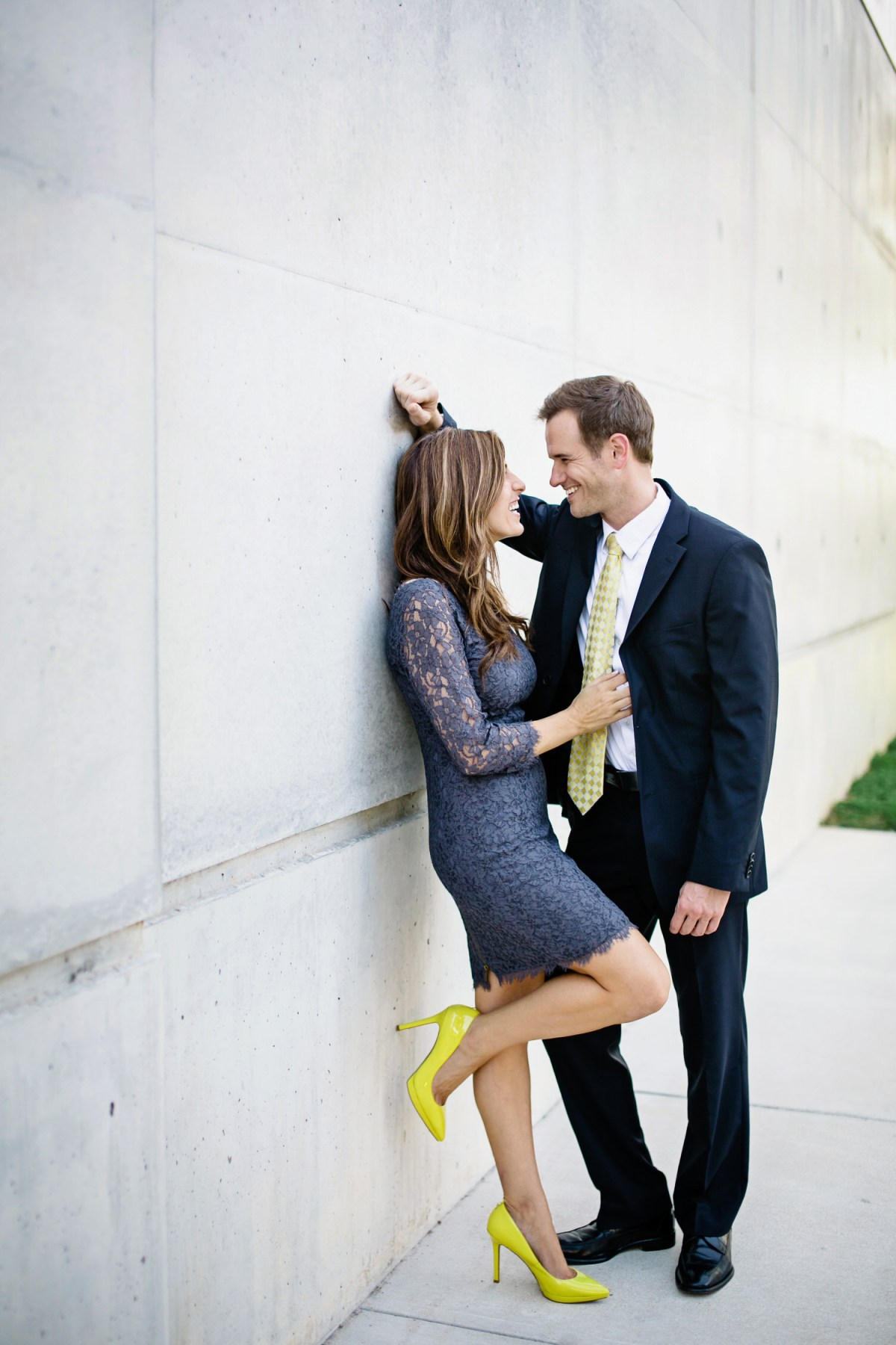modern engagement photo