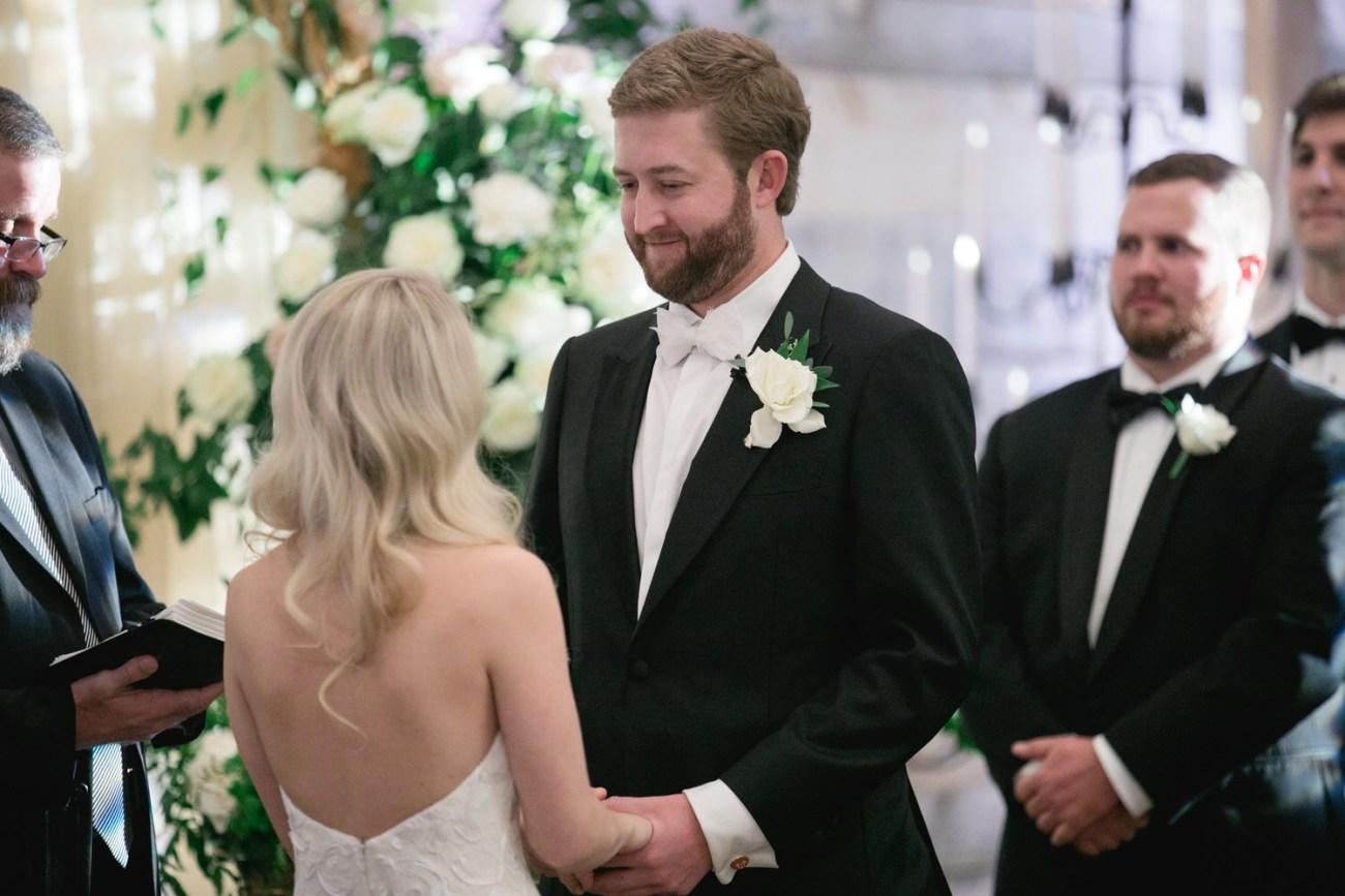 lubbock groom looking at bride