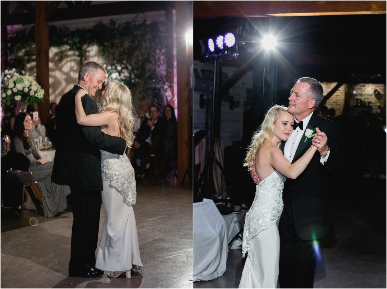 bride dances with dad at eberley brooks events