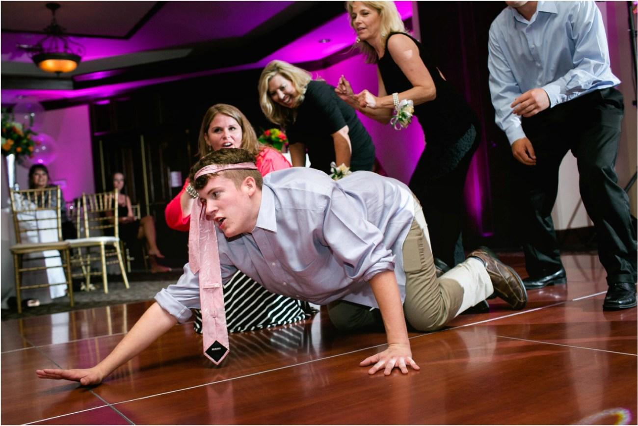guy crawling on dance floor