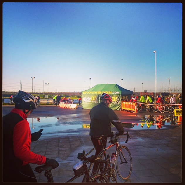 The start at the Cyclopark