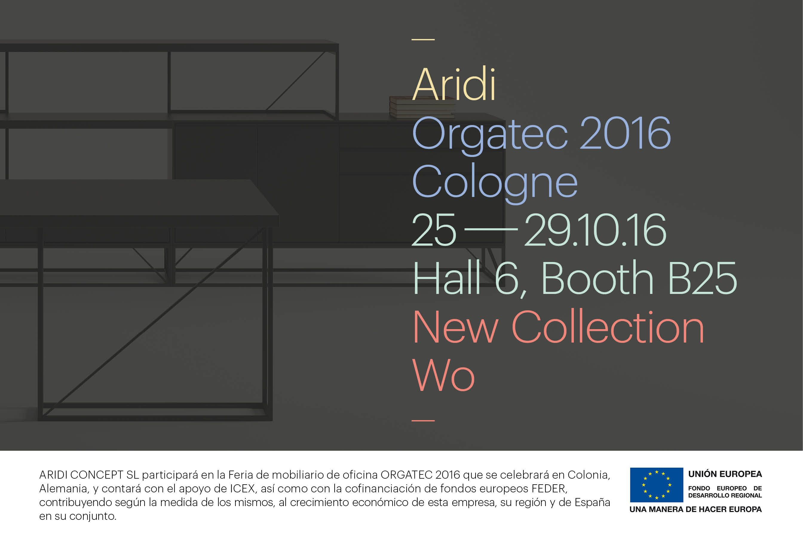 Aridi presents its new WO collection at ORGATEC 2016