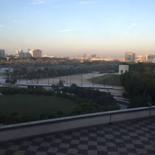 View from the window of my hotel in Abu Dhabi