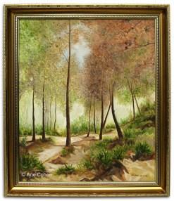 Trees-on-the-Carmel - Oil-by-Arie-Cohen-LR