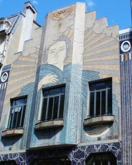 Mozaic on shop facade S