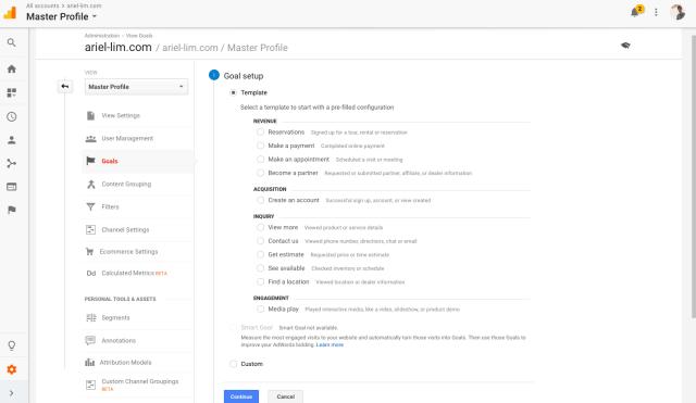 Google Analytics Goals: Setup